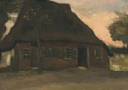 Van Gogh, Vincent:  Farmhouse. Fine Art Print/Poster (004203)